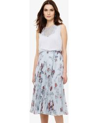 Phase Eight - Patricia Pleated Floral Dress - Lyst