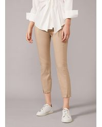 Phase Eight Louise Crop Trousers - Natural