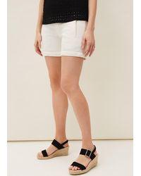 Phase Eight Sara Denim Shorts - White