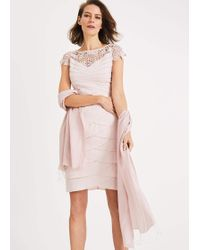 Phase Eight Diamond Weave Shawl - Pink