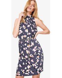 Phase Eight - Petal Print Drape Dress - Lyst