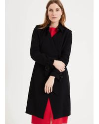 Phase Eight - Charlotte Waterfall Wrap Coat - Lyst