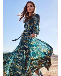 Phase Eight Carmen Pleated Maxi Dress - Green