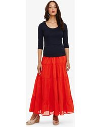 Phase Eight - Catherine Tiered Maxi Skirt - Lyst