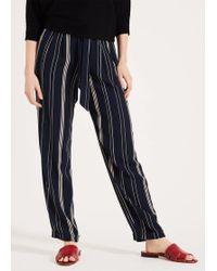 Phase Eight Keiko Stripe Trousers - Blue