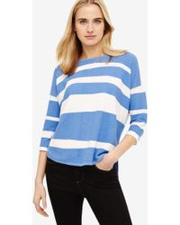 Phase Eight - Megg Cotton Stripe Knit Top - Lyst