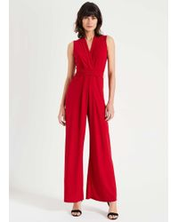 Phase Eight Tia Sleeveless Jumpsuit - Red