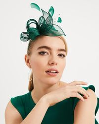 Phase Eight - Payton Bow And Feather Fascinator - Lyst