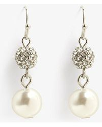 Phase Eight - Avalia Pearl And Pave Earrings - Lyst