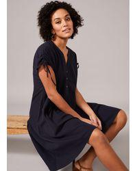 Phase Eight Mimoza Linen-blend Swing Dress - Black