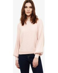 77381fca0ae Bettine Balloon Sleeve Knitted Jumper - Pink