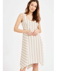 ebe9f2c7d235 Reiss Susie Twist–front Dress in Natural - Lyst