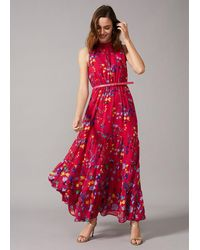 Phase Eight Henrietta Floral Maxi Dress - Red