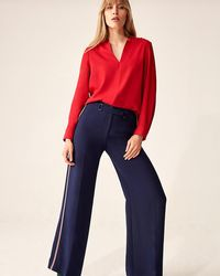 Phase Eight - Hailey V-neck Blouse - Lyst