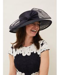 Phase Eight Timone Bow Hat - Blue