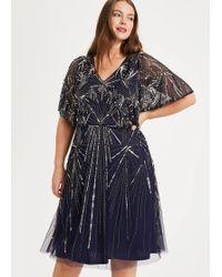 Studio 8 Zoe Beaded Dress - Blue