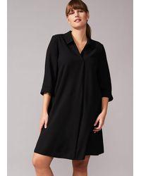 Studio 8 Bette Shirt Swing Dress - Black