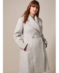 Studio 8 Ayda Wool Coat - Grey