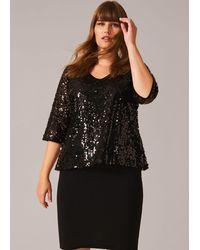 Studio 8 Lottie Sequin Knit Dress - Black