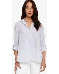 af9f71c22f Lyst - Tory Burch Gianna Silk Shirt in White