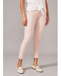 Phase Eight Paenoia Button Detail Cropped Jeans - Pink