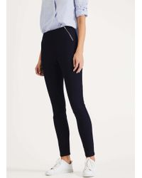 Phase Eight Amina Skinny Fit Zip Jeggings - Blue
