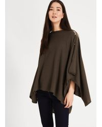 Phase Eight Noa Cashmere Blend Poncho - Multicolour