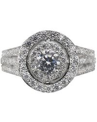 Phase Eight - Cubic Zirconia Pave Round Cocktail Ring - Lyst