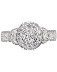 Phase Eight - Cubic Zirconia Saucer Ring - Lyst