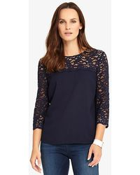 John Lewis - Phase Eight Lowri Long Sleeve Lace Blouse - Lyst
