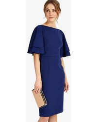 Phase Eight - Daley Drape Dress - Lyst