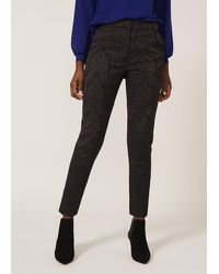 Phase Eight Joanne Jacquard Trousers - Black