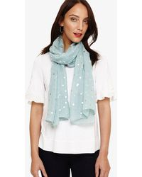 Phase Eight - Neave Foil Spot Scarf - Lyst