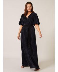 Studio 8 Hattie Plisse Sparkle Maxi Dress - Blue