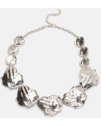 Phase Eight Lola Leaf Short Necklace - Metallic