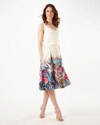 Phase Eight - Eden Print Skirt - Lyst