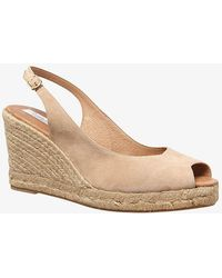 Phase Eight - Suede Sling Back Wedge Espadrilles - Lyst