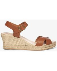 Phase Eight - Julienne Leather Espadrille Wedge Shoes - Lyst
