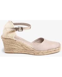Phase Eight - Kimmy Leather Espadrille Wedge Shoes - Lyst