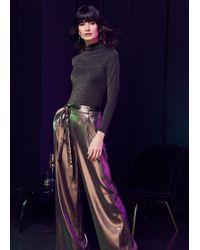 Phase Eight Keira Gold Wide Leg Trousers - Metallic