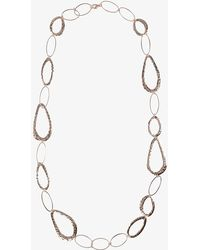 Phase Eight - Silver Amber Necklace - Lyst