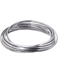 Phase Eight - Silver Tone Bangles - Lyst