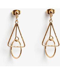 Phase Eight - Jasmine Mini Geo Drop Earrings - Lyst