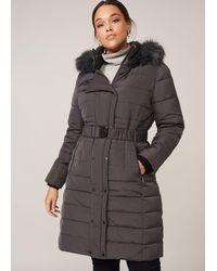 Studio 8 Leona Puffer Coat - Grey