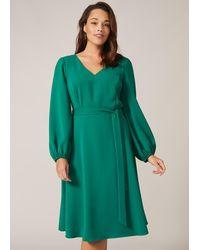 Studio 8 Camille Bell Sleeve Dress - Green