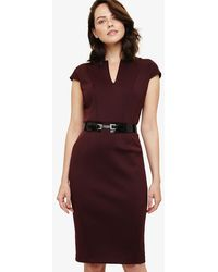 Phase Eight - Abby Belted Scuba Dress - Lyst