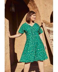 Studio 8 Juliet Print Dress - Green