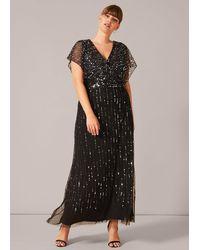 Studio 8 Shante Sequin Maxi Dress - Black
