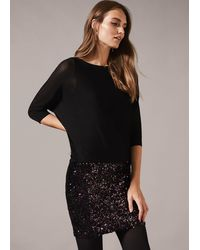 Phase Eight - Geonna Sequin Skirt Dress - Lyst