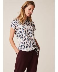 Phase Eight Jinny Smudge Print Top - Multicolour